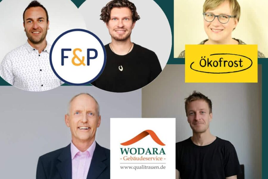 Beitragsbild Talk Gebäudeservice Wodara, F&P, Ökosfrost, Urte Töpfer